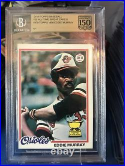 2019 Topps 150 All-time Great Cards 1/1 1978 Eddie Murray Redemption Received