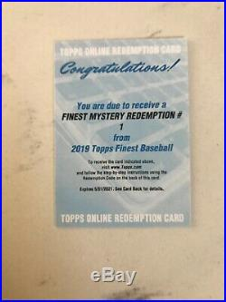 2019 Topps Finest Mystery Redemption #1 Auto SSP SP 11,465 Packs Rare Guerrero