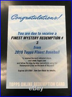 2019 Topps Finest Mystery Redemption #3 Autograph Rookie