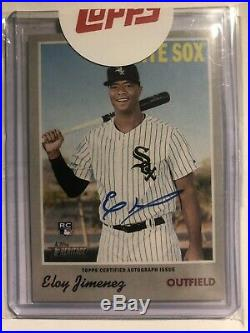 2019 Topps Heritage Eloy Jimenez RC Auto Redemption Rookie Real One