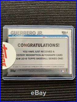 2019 Topps Series 1 Vladimir Guerrero Jr Rookie Auto (Mystery Redemption A)