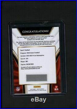 2019 XRC Prizm Redemption from 2018 Select Football QB1 KYLER MURRAY