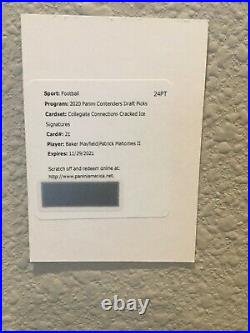2020 Contenders Patrick Mahomes Baker Mayfield Cracked Ice Auto Redemption /23