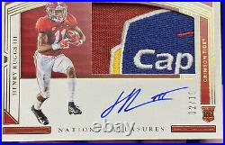 2020 National Treasures Henry Ruggs lll Capital Bowl Game Patch Auto Rookie /10