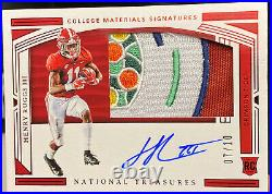 2020 National Treasures Henry Ruggs lll Citrus Bowl Game Patch Auto Rookie /10