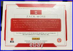 2020 National Treasures Zack Moss Rookie Bowl Game Patch Auto Booklet RPA 3/10