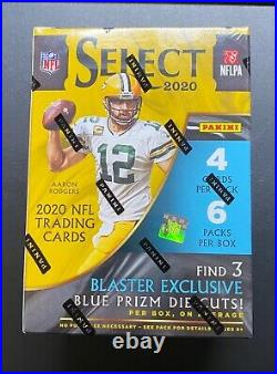 2020 Panini Select Blaster Box NFL Trading Cards Tri Color Prizm Die Cuts Silver