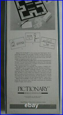 3 Games Bible Pictionary Redemption trading card Outburst Bible sealed or used