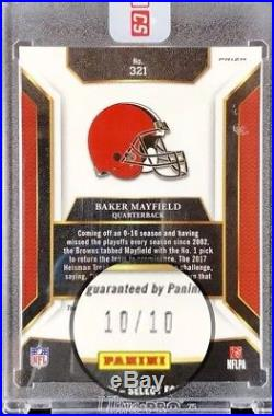 Baker Mayfield Auto 2017 Select Xrc Redemption Gold #10/10 Rare