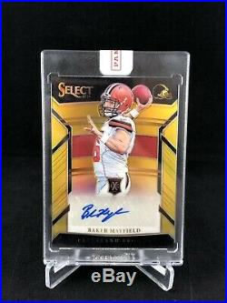 Baker Mayfield Rare Select XRC Redemption Auto Gold #10/10 Browns Sooners