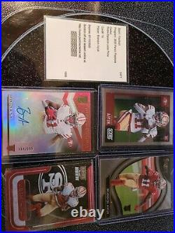 Brandon Aiyuk Cards signature locker prime Redemption and a auto with some other