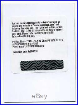 Connor Mcdavid 15-16 Ud Champs High Series Redemption Auto Rc #315