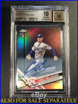 Cody Bellinger 2017 Topps Finest Redemption Auto Refractor /99 Rookie Bgs 9.5 10