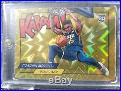 DONOVAN MITCHELL KABOOM RC GOLD #10/10 JAZZ 1/1 Rookie Sold out Redemption