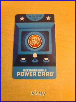D&B Dave and Busters Power Card 80,000+ Redemption Tickets + 5,290 Game Chips
