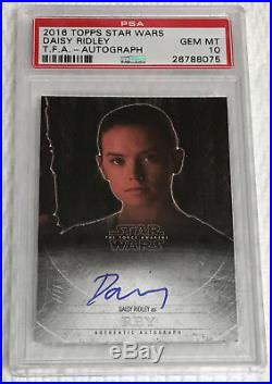 Daisy Ridley 2016 Topps Mystery Redemption Autograph Card Star Wars Rey Psa 10