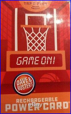 Dave and Busters Power Card With 10,470 Redemption tickets and 0 Game Chips