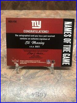 Eli Manning 2004 Fleer Inscribed Names Of The Game RC Auto /99 Giants