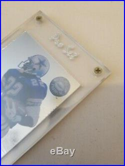 Emmitt Smith 1992 Pro Set 1.28 Real Platinum Redemption Card with letter VERY RARE