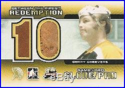 Gerry Cheevers 2011-12 Between the Pipes Redemption Game-Used Glove/Pad