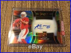 KYLER MURRAY 2018 Panini Select Football XRC Tie-Dye Auto 11 of 25 Redemption