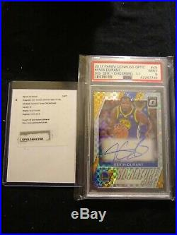 Kevin Durant 2017 Panini Donruss Optic Checkerboard 1/1! MVP With redemption