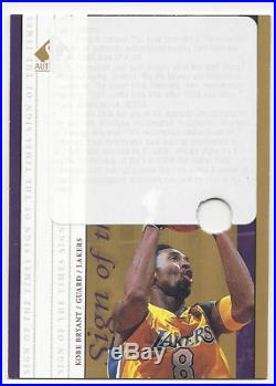 Kobe Bryant 1999-00 Sp Authentic Sign Of The Times Gold Auto Redemption Rare Sp