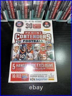 NEW SEALED Panini Contenders 2020 NFL Football 30 Trading Cards Hanger Box (9)