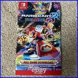 Nintendo Switch Mario Kart 8 Deluxe Full Game Redemption Card