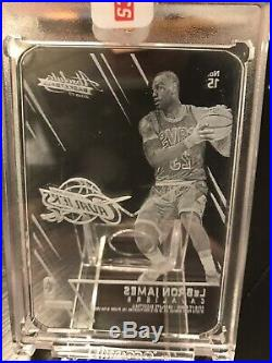 Panini Absolute LeBron James Glass CASE HIT SSP Redemption Cleveland Cavaliers