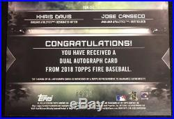 RONALD ACUNA / OZZIE ALBIES Dual Auto Redemption 2018 Topps Fire EXTREMELY RARE