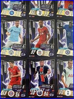 Rare Full Complete Set 20 TOPPS Match Attax 2020/21 Power Play Redemption Cards
