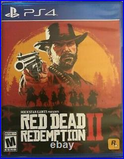 Red Dead Redemption II Playstation 4 PS4 2018 with MAP No Cards VGC Free Shipping