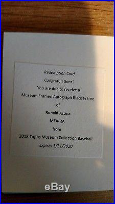 Ronald Acuna 2018 Topps Museum Black Framed Auto #/5 Braves RC Redemption