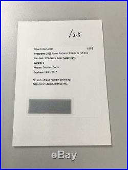 Stephen Curry 15-16 Panini National Treasures Nba Game Gear Auto Redemption! /25