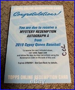 Vladimir Guerrero Jr 2019 Panini Gypsy Queen Mystery Redemption A Auto Rookie Sp
