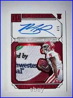 #d/5! Marquise Brown 2019 National Treasures Collegiate Bowl Game Patch Rookie